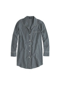Nightshirt in pinstripe flannel