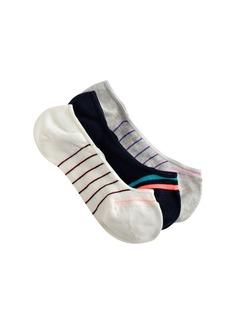 No-show socks in skinny stripe
