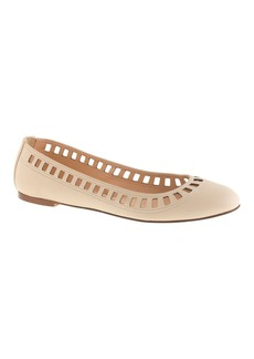 Nora leather lattice ballet flats