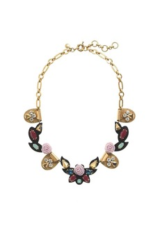 Opulent rose necklace