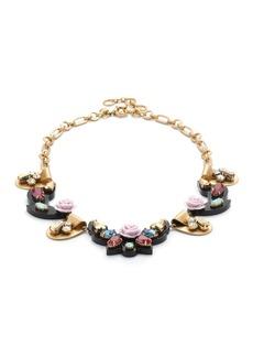 Opulent rose necklace
