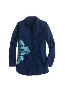 Overblown indigo floral shirt