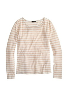 Oversize stripe long-sleeve tee