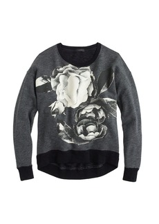 Oversize sweatshirt in exploded floral