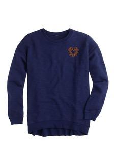 Oversize sweatshirt with bullion heart