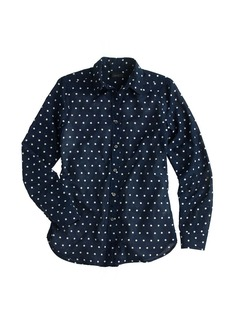 Oversized boy shirt in polka dot