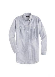 Oversized shirt in skinny stripe