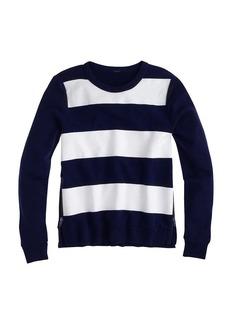 Painted stripe sweatshirt