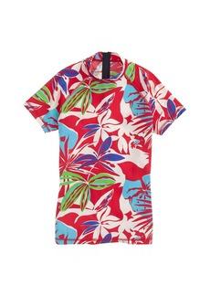 Paradise floral short-sleeve rash guard