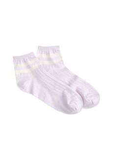Pastel-striped ankle socks