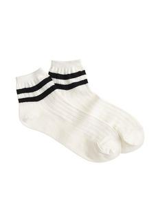 Pastel-striped ankle socks
