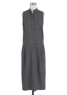 Patch-pocket dress in Super 120s wool