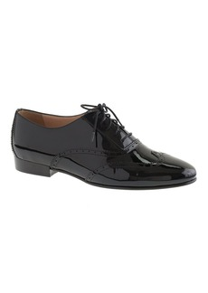 Patent wing-tip oxfords