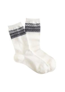 Pattern-trim trouser socks