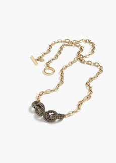 Pavé chainlink pendant necklace