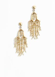 Pavé droplet chandelier earrings