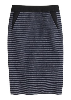 Pencil skirt in stripe tweed