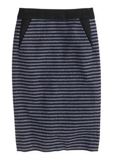 Pencil skirt in stripe tweed