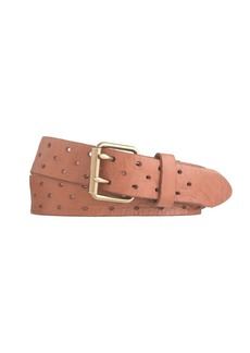 Perforated-dot leather belt