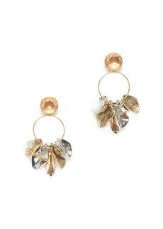 Petal hoop earrings