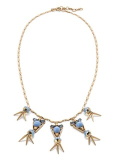 Petite crystal spike necklace