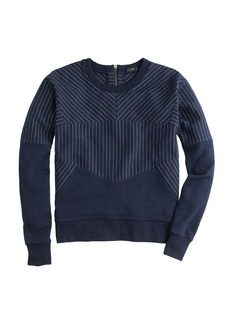 Pieced pinstripe sweatshirt