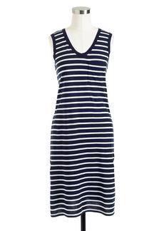 Pima cotton dress in stripe