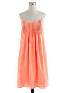 Pintuck sundress in garment-dyed