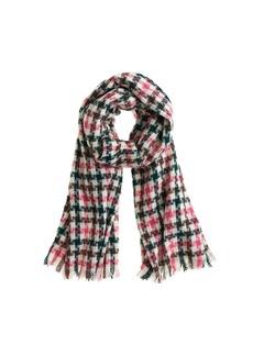 Plaid check scarf