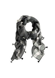 Plaid tassel scarf