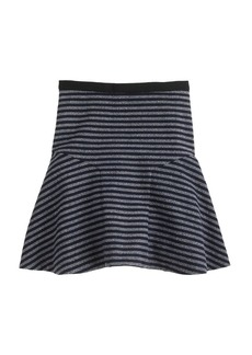 Plaza skirt in stripe tweed