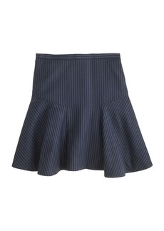 Plaza skirt in wool pinstripe