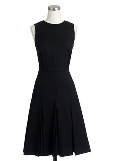 Pleated dress in Super 120s wool