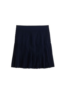 Pleated lattice skirt