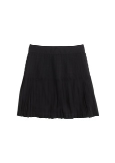 Pleated lattice skirt