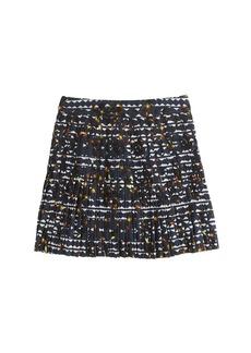 Pleated lattice skirt in hidden floral