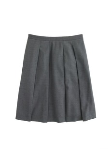Pleated skirt in Super 120s wool