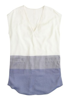Pocket tunic in metallic stripe