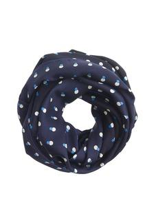 Polka-dot silk infinity scarf