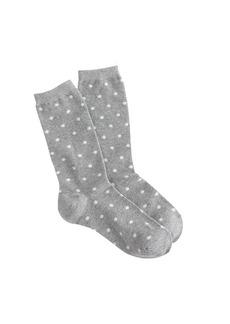 Polka-dot trouser socks