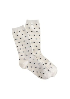 Polka-dot trouser socks