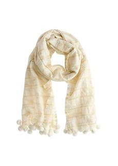 Pom-pom scarf