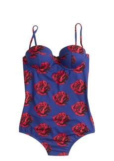 Pop Art rose underwire one-piece swimsuit