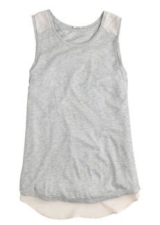 Prima jersey chiffon-back tank
