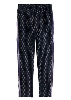 Pull-on ikat pant with metallic tux stripes