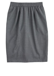 Pull-on pinstripe skirt