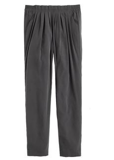Pull-on pleated pant
