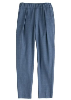 Pull-on trouser in Super 120s wool