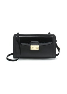 Push-lock crossbody bag