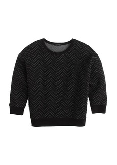 Quilted chevron sweatshirt